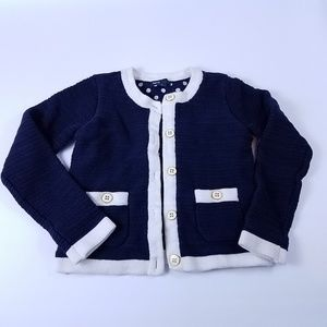 Gap Kids Button Up Sweater Royal Blue Size Medium